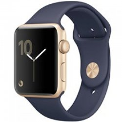 ساعت هوشمند اپل واچ سری 2 مدل 42mm Gold Aluminum Case with Midnight Blue Sport Band