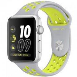 ساعت هوشمند اپل واچ سری 2 مدل Nike Plus 42mm Silver with Silver Volt Band